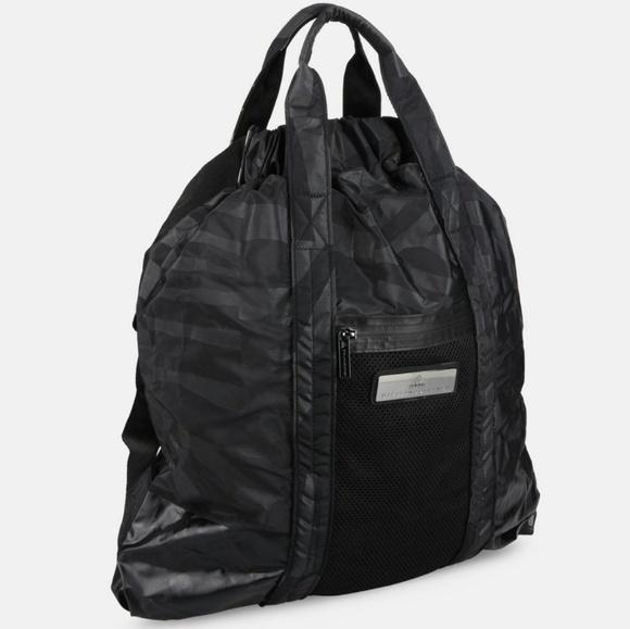 0956619078 Stella McCartney x Adidas Black Gym Bag Multi NWT